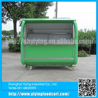 High quality but cheap mobile hot dog cart with strong wheels street vending carts