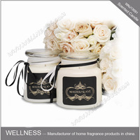 luxury wedding favors scented soy wax candle in glass jar