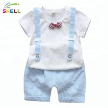 New children's clothes T-shirt lovely boy baby clothes summer short sleeve children's suit 0-1-2-3-4 years old summer clothes.