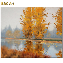 Art Manually Autumn Maple Leaf Painting Indoor Decor
