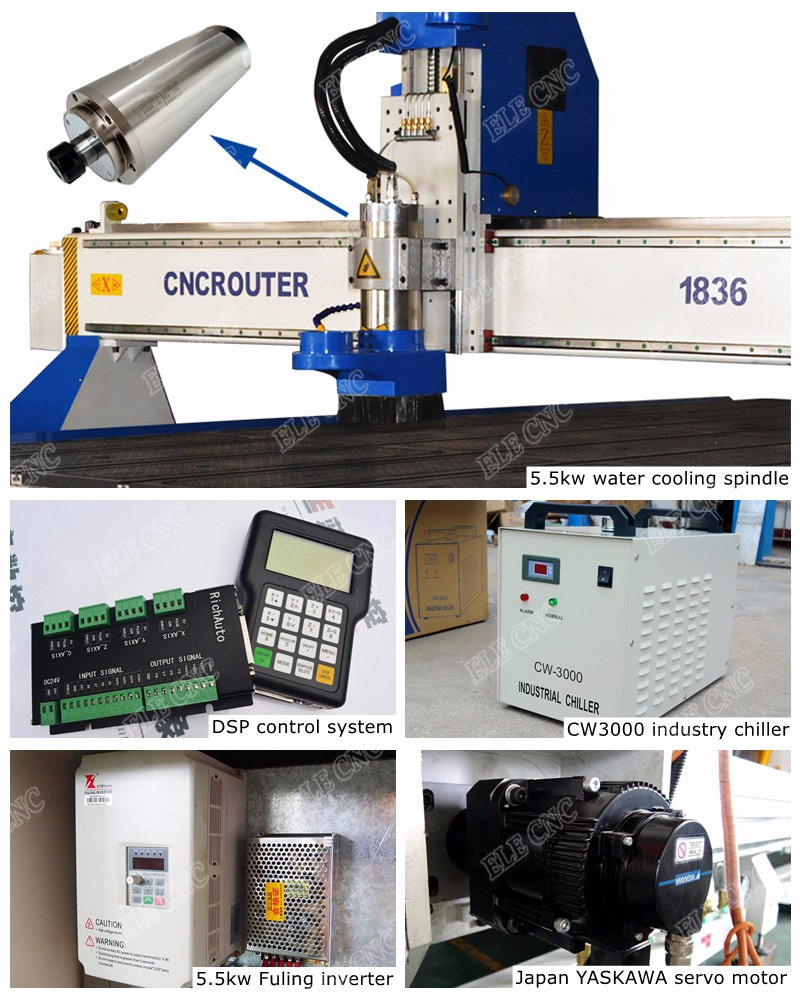 Hot sale cnc machine 1836 , carving machine wood , wood cnc router with good price for wood door chair stair