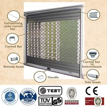 rolling top shutter patio door with aluminum