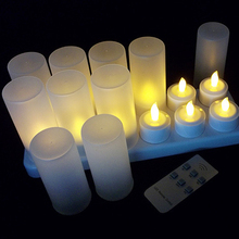 Wedding decoration Battery operated rechargeable electric tea light candles