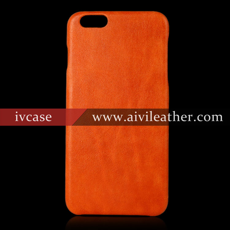 Stylish Real Nature Leather Back Cover for Leather Iphone 6s case