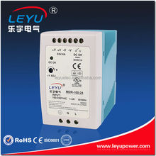 Compact size MDR-100-15 switching power supply 100W 15V 6.6A Din Rail power supply