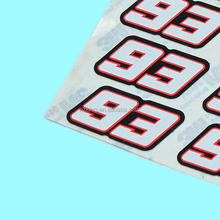 Accept custom order number bubble sticker