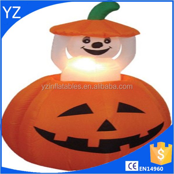 4 Foot Halloween Inflatable Pumpkin and Ghost Yard Garden Decoration