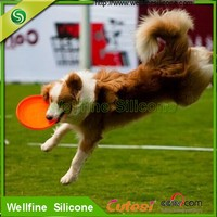 ultimate Silicone mini dog frisbee with Embossed or Debossed logo