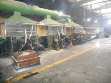 Backing material producing