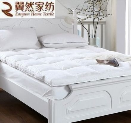 White Duck Feather Filled Mattress Bed