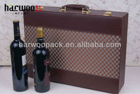 New Style Fashion Leather Wine Bottle Packaging in For 6 Bottles