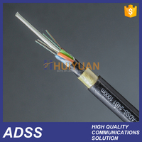 Power optical fiber cable Single mode ,ADSS 24 ,48,72 and 96 core fiber cable