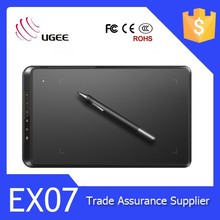 Ugee EX07 8x5 inch 20 48 levels sensitive pressure graphics drawing pen tablet lcd