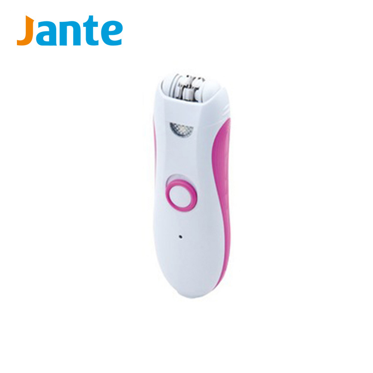 JANTE Wholesale China Products Blue And Pink Lady's Epilator Shaver With Battery