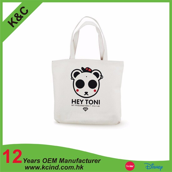 promotional cheap price canvas bag with zipper