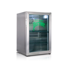 Back Bar Glass Door Stainless Steel Fridge