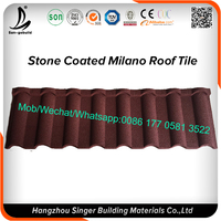 Eaves Tiles Type and Aluminum/Zinc Coating Steel Material Sand Coated Metal Roof Tile