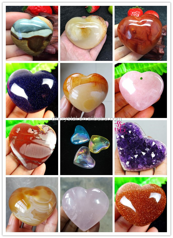 Wholesale natrual crystal agate heart quartz agate heart for decoration