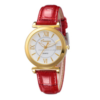 new arrival fashion girls quartz watch genuine leather watch
