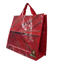 PP woven laminted bag with wine holder