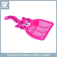 Colorful plastic poop scoop sieve litter for cat wastes cleaning