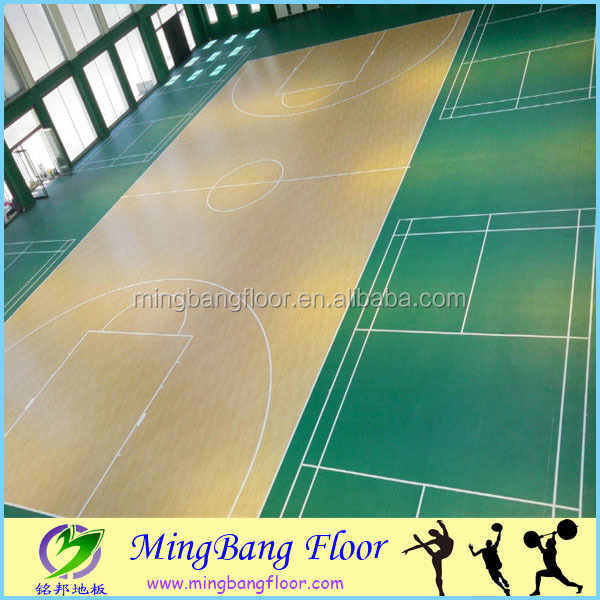 portable PVC Sports Flooring For Indoor Basketball Court