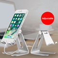 Adjustable Desktop Metal Cell Phone Stand Aluminum Stand Holder for Mobile Phone and Tablet PC Lazy Neck Phone Holder