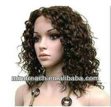 "First-class best selling 16""2# virgin Peruvian loose curl hair full lace wig in stock,accept escrow"