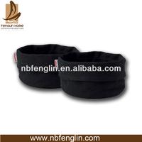 OEM design cotton canvas black round Bread basket