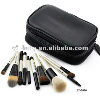 Private label Brand New 10PCS Professional Makeup Brush Set + Brush Roll