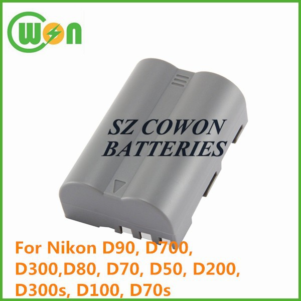 7.4V 2200mAh EN-EL3E li-ion rechargeable professional video battery for Nikon D90 battery pack replacement