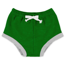 Wholesale Daily Wear Soft Knitted Cotton Kids Home Clothing Plain Green Unisex Baby Shorts Bloomer