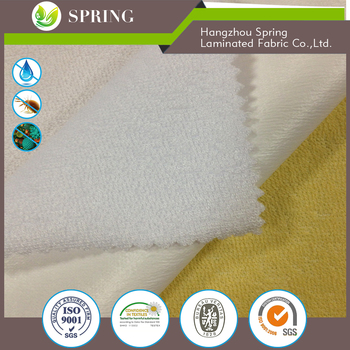 100% Waterpoof 70%bamboo bamboo terry towelling fabric