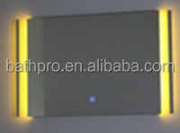 High quality commercial price european hotel style bathroom UPC touch screen switch led mirror
