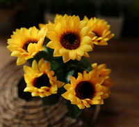 Artificial sunflower outdoor artificial plastic flowers for home and garden sunflower