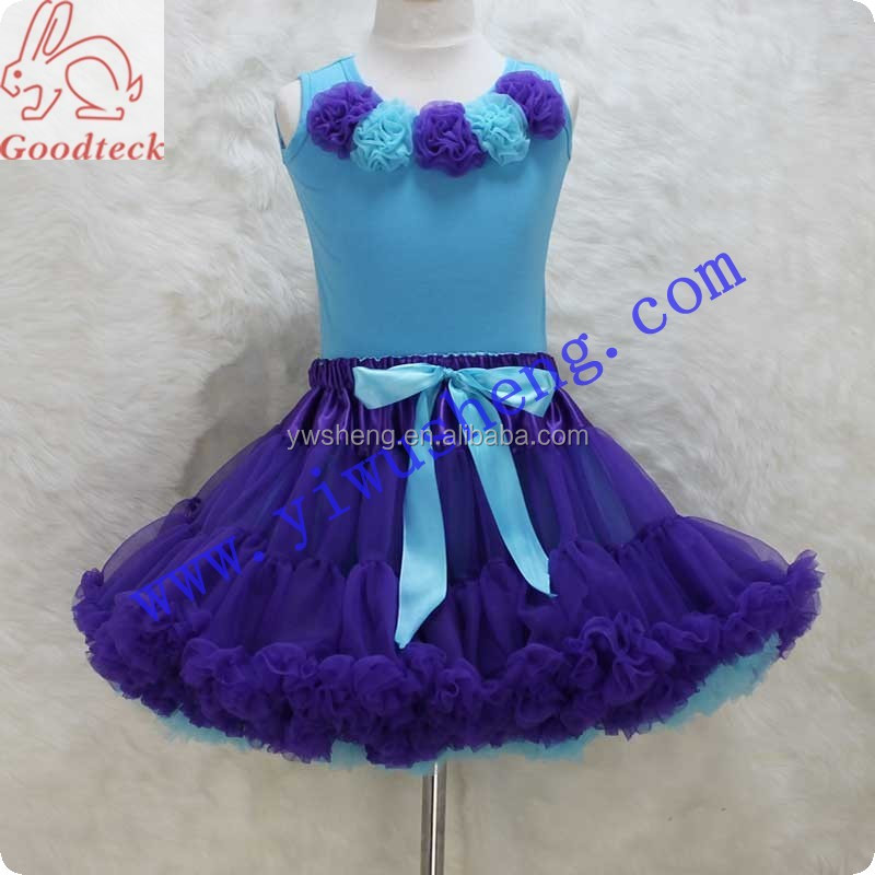 High quality summer western girls clothing set 2 piece skirt sets pettiskirt clothing outfits for kids