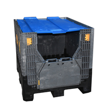 Heavy duty industrial plastic container for storage and shipping/foldable large container