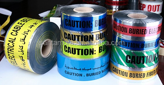 Cable Underground Detectable Aluminium Foil Coated PE Warning Tape