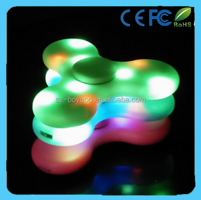 Bluetooth Speaker Finger Fidget Spinner with led lights Antistress Funny hand tri spiner fidget toy
