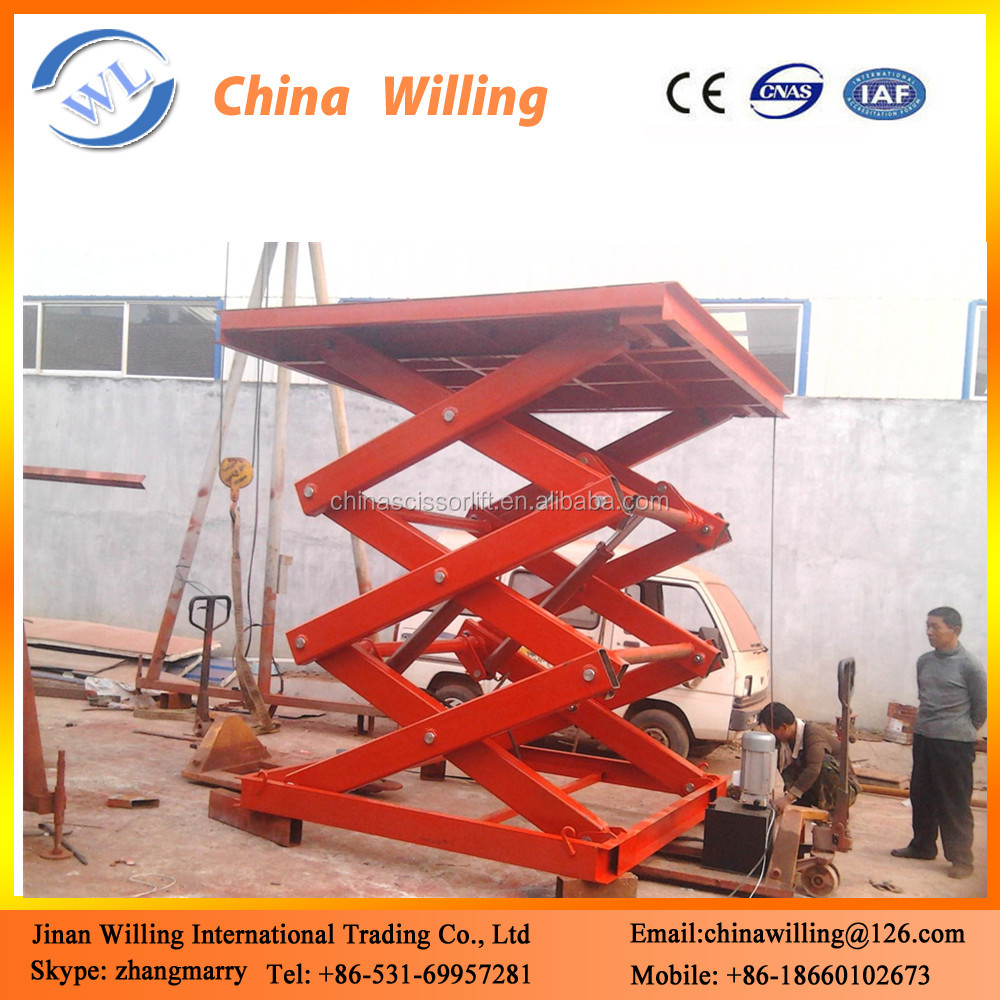 Motorcycle Shop Used Stationary Electric Motorcycle Scissor Lift For Sale