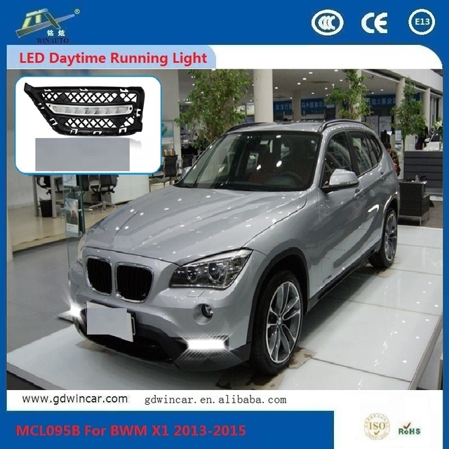 White Angel Eyes Driving Car Light 5630 Drl And Yellow Flexible Led Daytime Running Light For Bmw x1 2013 - 2015