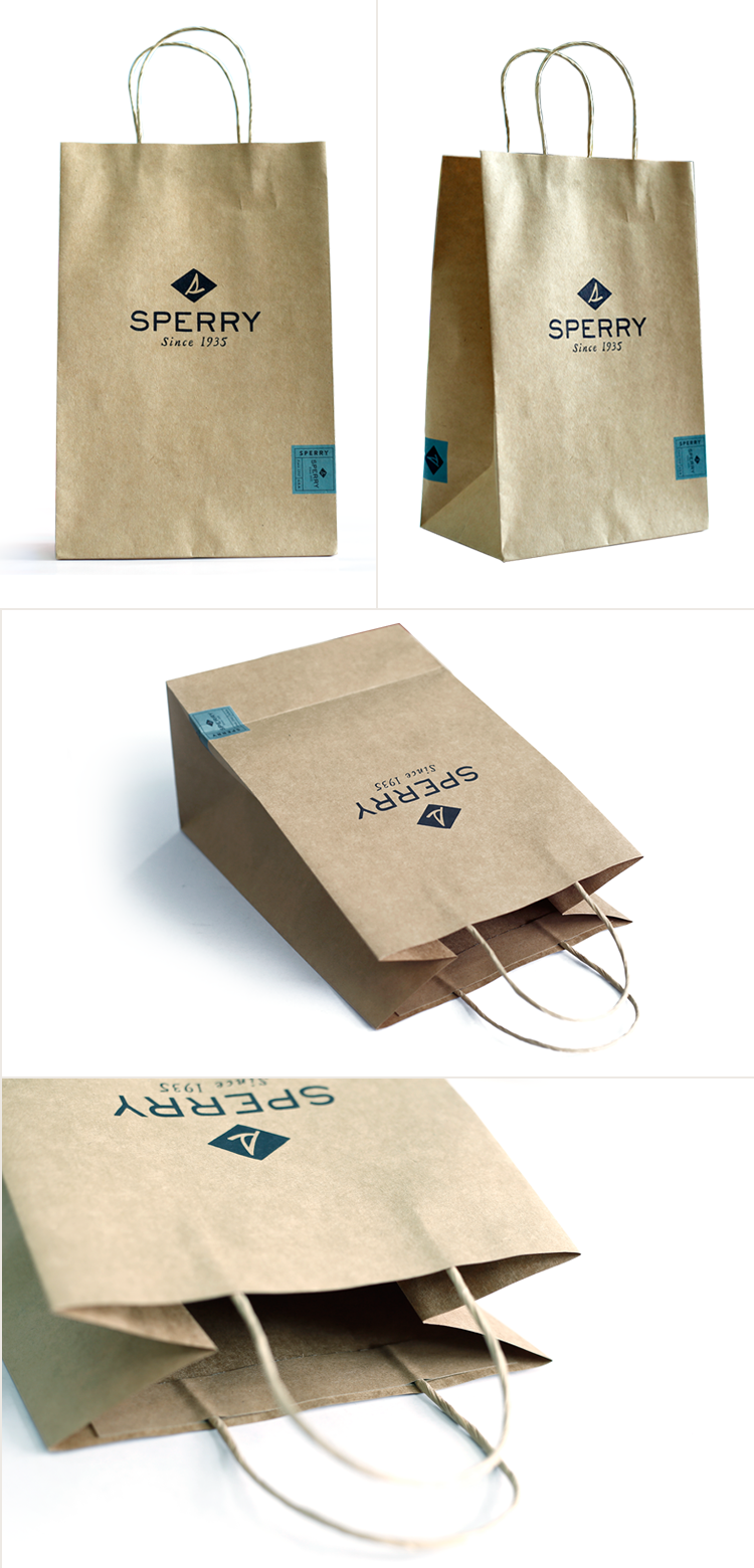 China factory reusable kraft paper shopping bag with you own logo