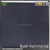 Black Granite With Bush Hammered Finish Granite Tile