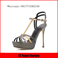 China wholesale luxurious gelegant stylish patent leather material new model women sandals