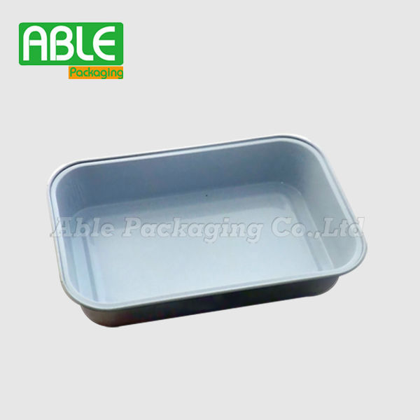 aluminum airline food container/airline aluminum foil food container