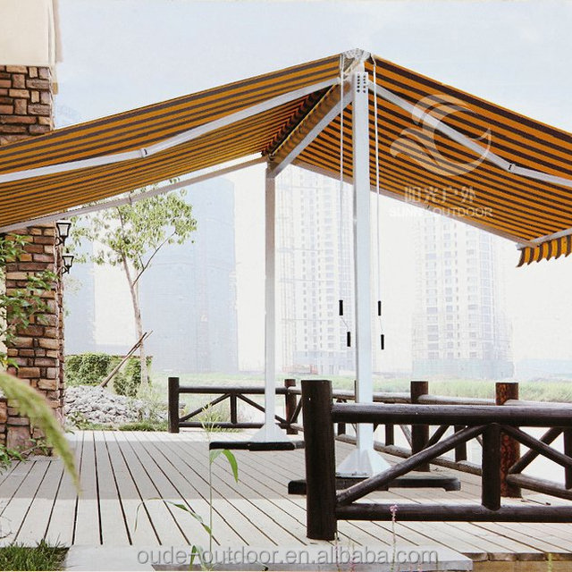 Convenient using heavy duty full cassette fold arm awning