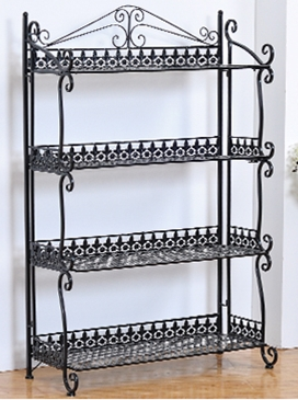 Home storage organizer handmade vintage folding 5 tier for Zapateras de metal