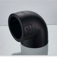 China HDPE socket water pipe and fitting 90degree elbow