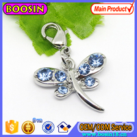 Factory Wholesale Crystal Dragonfly Animal Charm Necklace Pendant #13241