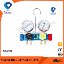 AS-4VG Aluminum valve Manifold Gauge
